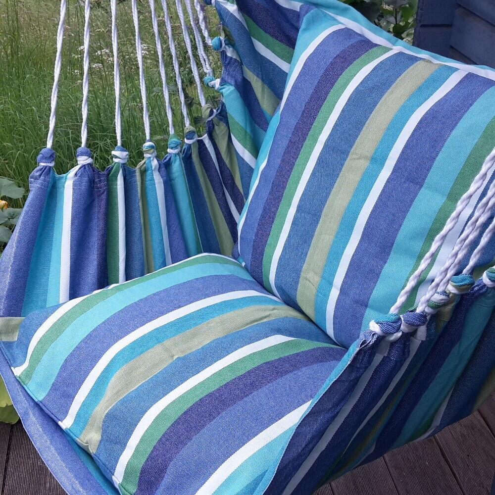 Gepolsterter Hängestuhl Hängesessel  Dominica 288 XL mit 2 Kissen aus 100 /% Baum