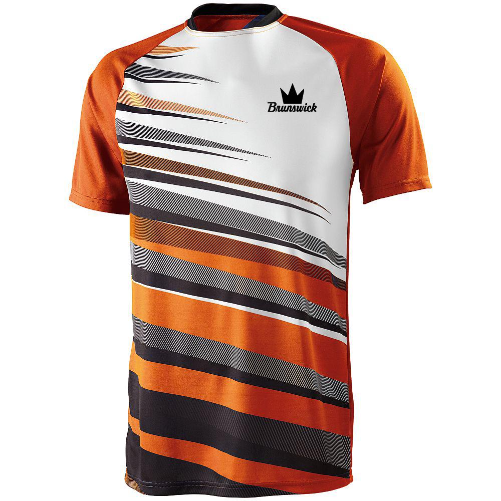 Brunswick Men's Fanatic Performance Jersey Bowling Shirt Dri-fit Orange