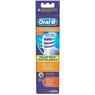 Triple Action Head - ORAL-B BRAUN TRIZONE REPLACEMENT HEADS TRIPLE floss ACTION x 4 NEW HEADS