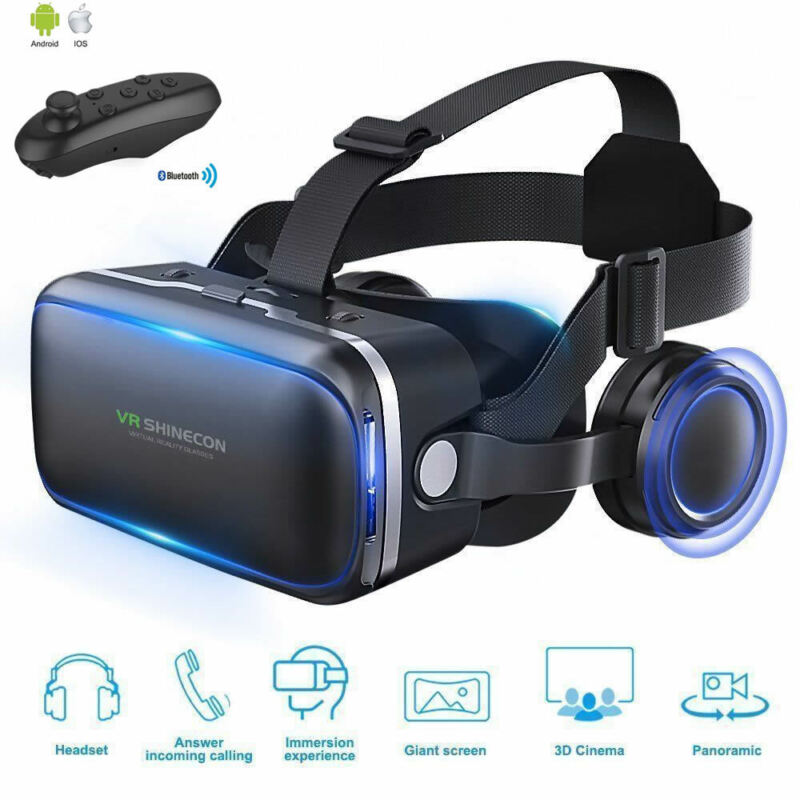 Shinecon 6.0 Casque VR Virtual Reality Glasses 3 D 3d Goggles Headset Helmet