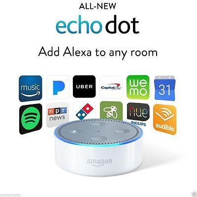 Brand New   White  2Nd Generation  Amazon  Echo  Dot