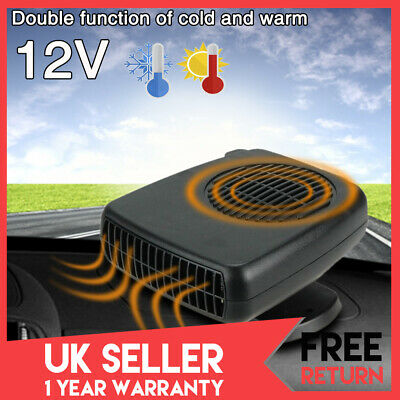 12V Car Fan Heater Cooler Windscreen Demister Defroster Cold/Hot Wind Portable