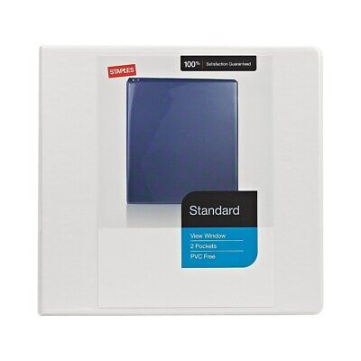 Staples Standard 4-Inch D 3-Ring View Binder White  976178