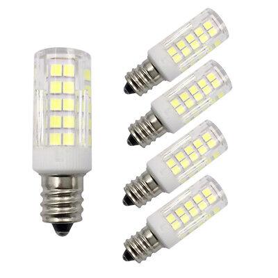 5pcs E12 Candelabra Base LED Light bulb C7 6W 110V 120V 64Led 2835SMD Lamp H ()