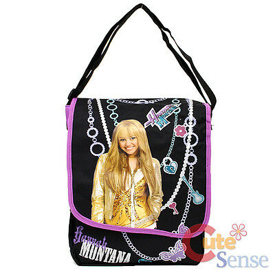 Disney Hannah Montana Messenger Bag Shoulder Bag -Black Purple Jewelry  ()