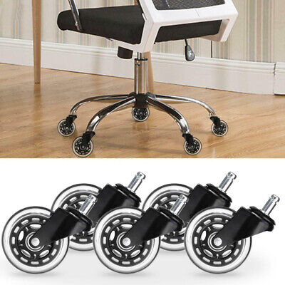 520pcs 3inch Office Chair Caster Rubber Swivel Wheels Replacement Heavy Duty Us