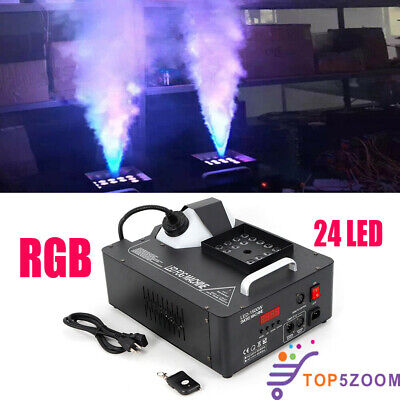 24 RGB LED Fog Machine 3in1 1500W Party DMX Wireless DJ Stage Smoke Fogger Spray