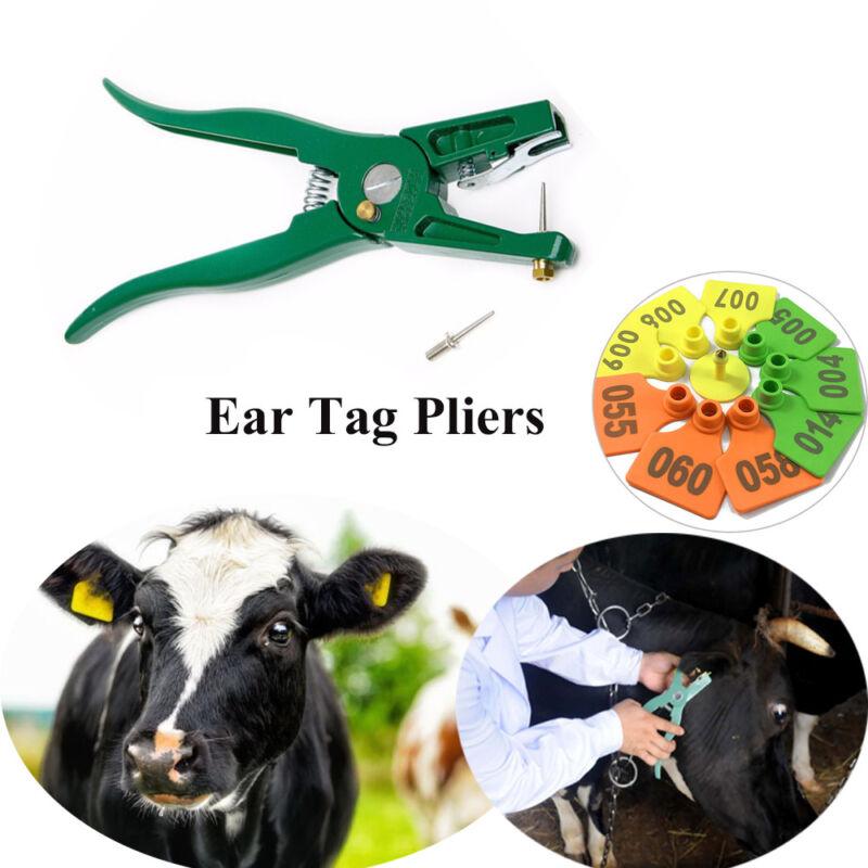 Sign ID Tag Installer Tool Pig Ear Tag Pliers Identify Card Livestock Marking