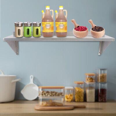 Solid Wall Shelf 12 X 36 Stainless Restaurant Kitchen Pantry Organizer Rack