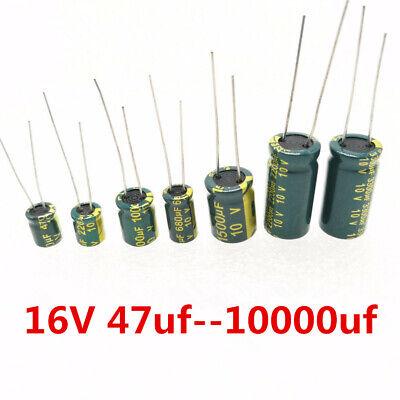 16v Low Esr High Frequency Aluminum Capacitor 1002204701000220047001500 Uf