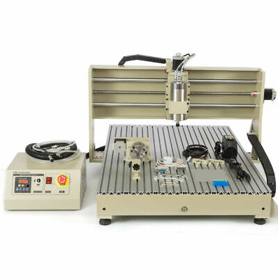 Usb-style 4axis Engraver Machine Cnc6090 Router Wood Mill W Remote Controller