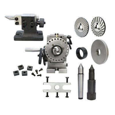 Bs-0 Semi Universal Dividing Head Spindle Tail Stock Milling Mill Set