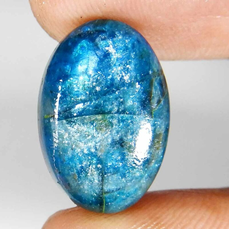 13.55Cts. 100% Natural A+ Quality Blue Apatite Oval Cabochon Loose Gemstone