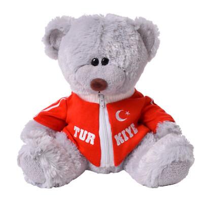 Plüsch Teddybär Kuschelbär Kuscheltier mit Sweatjacke Türkei 33cm