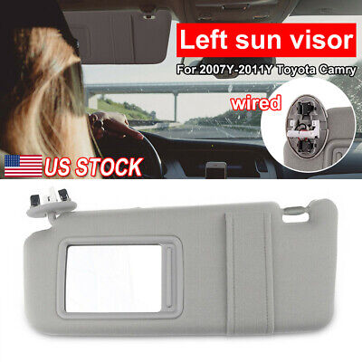 Driver Side Left Sun Visor with Sunroof and Light for Toyota Camry 2007 2011