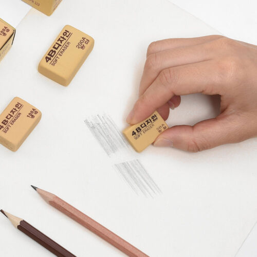 9 X High Quality 4B Pencil Rubber Eraser Art Student Painting Sketch Stationary