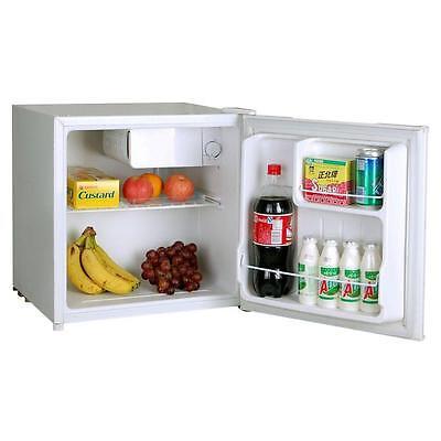 Small Mini Compact White Table Top Office Fridge & Ice Maker Compartment