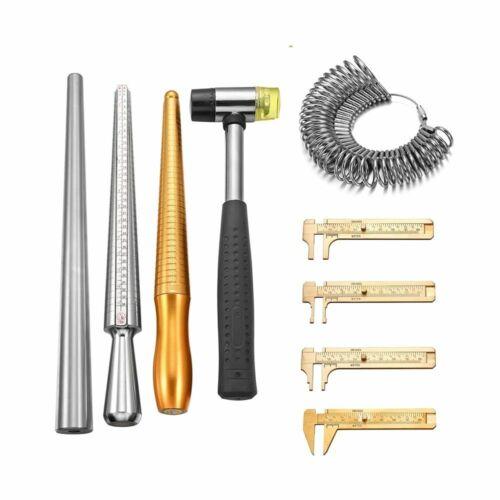Ring Stick Enlarger Mandrel Gauge Tools Set 10 Style Finger Measuring Equipment
