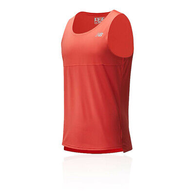 New Balance Mens Accelerate Vest - Red Sports Running Breathable Reflective