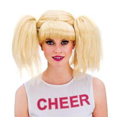 Blond Cheerleader Perücke Damen High School Sports Tag Kostüm Zubehör