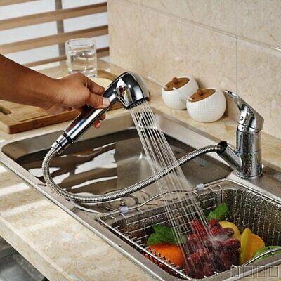 Pull-Out Enounce Kitchen Faucet Swivel Spout Sink Single Handle Chrome Mixer Tap