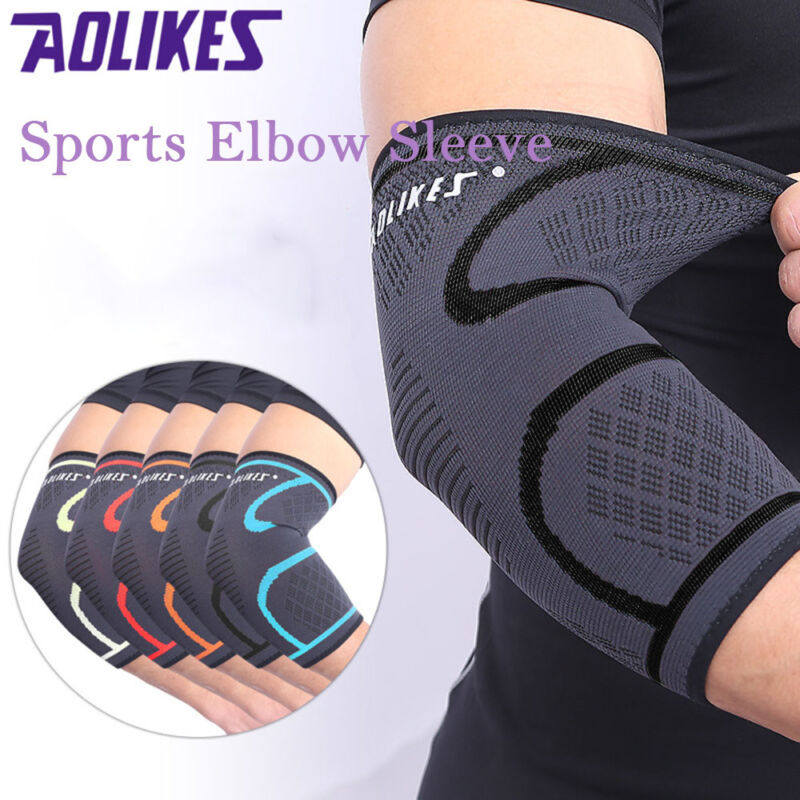 2X Elbow Brace Compression Support Sleeve Arthritis Tendonitis Reduce Joint Pain