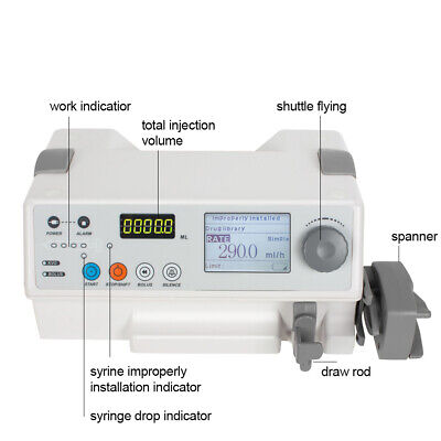 Portable Use Sp-50b Infusion Pump Fluid Control Syringe Pump Alarm Lcd Display