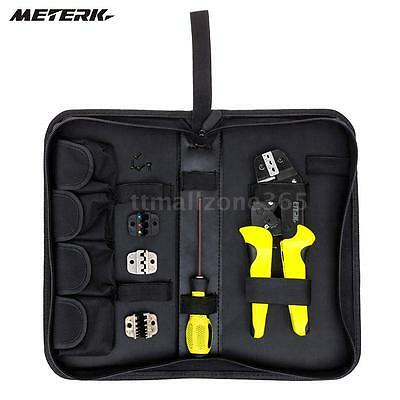 Meterk Jx-d4 Cable Wire Terminal Crimper Ratcheting Crimping Plier Tool Kit M3h2