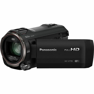 Panasonic HC-V770 Full HD Camcorder 1080P/WiFi/120fps/20x Zoom - (Black, NTSC)