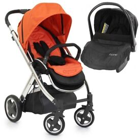 Brand New Babystyle Oyster Orange Travel System Stroller with car seat RRP £399
