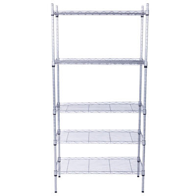 5 Layer Garage Wire Metal Shelving Unit Commercial Heavyduty Storage Shelf Rack