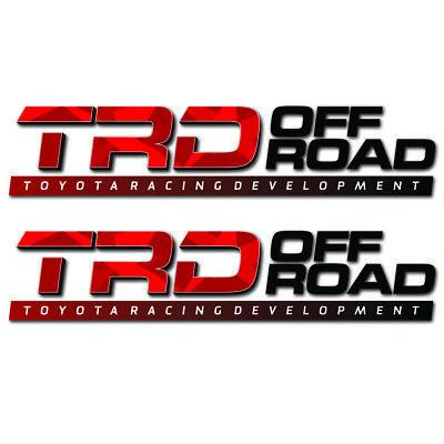 TRD Vinyl Decal | Toyota Truck Sticker | Tacoma Development Part | Accessories ()