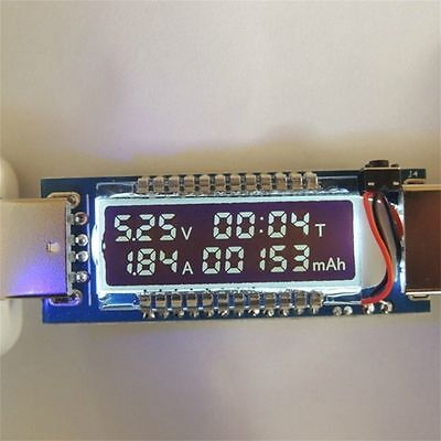 Battery Meter (USB Ammeter USB Voltage Meter Current Voltage Detect Battery Capacity Tester)