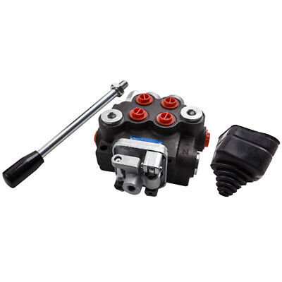 2 Spool Hydraulic Control Valve 11gpm Directional Double Acting Cylinder 40lmin
