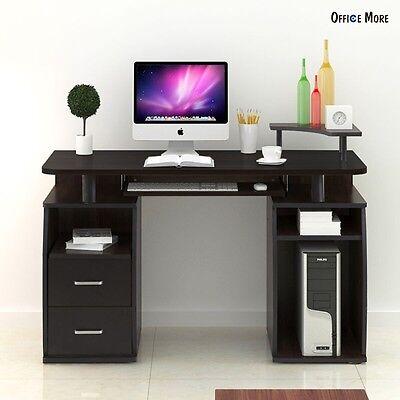Computer Desk PC Table Workstation Monitor & Printer Shelf Home Office Furniture