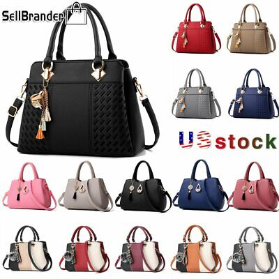 Women Handbag Tassel PU Leather Totes Bag Messenger Crossbody Purse Shoulder Bag