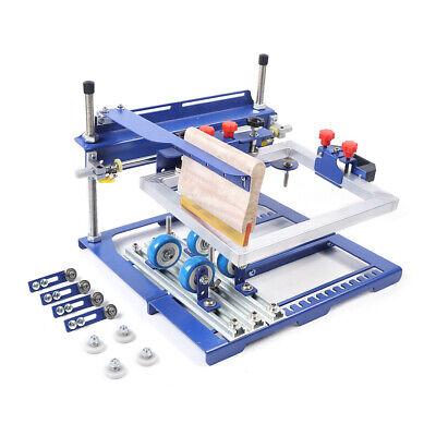 Manual Surface Curve Screen Printing Press Silk Screen Cylinder Printing Machine