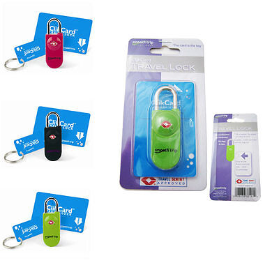 TSA Approved Travel Luggage Lock ClikCard Card Key Easy Suitcase Bag Security !!