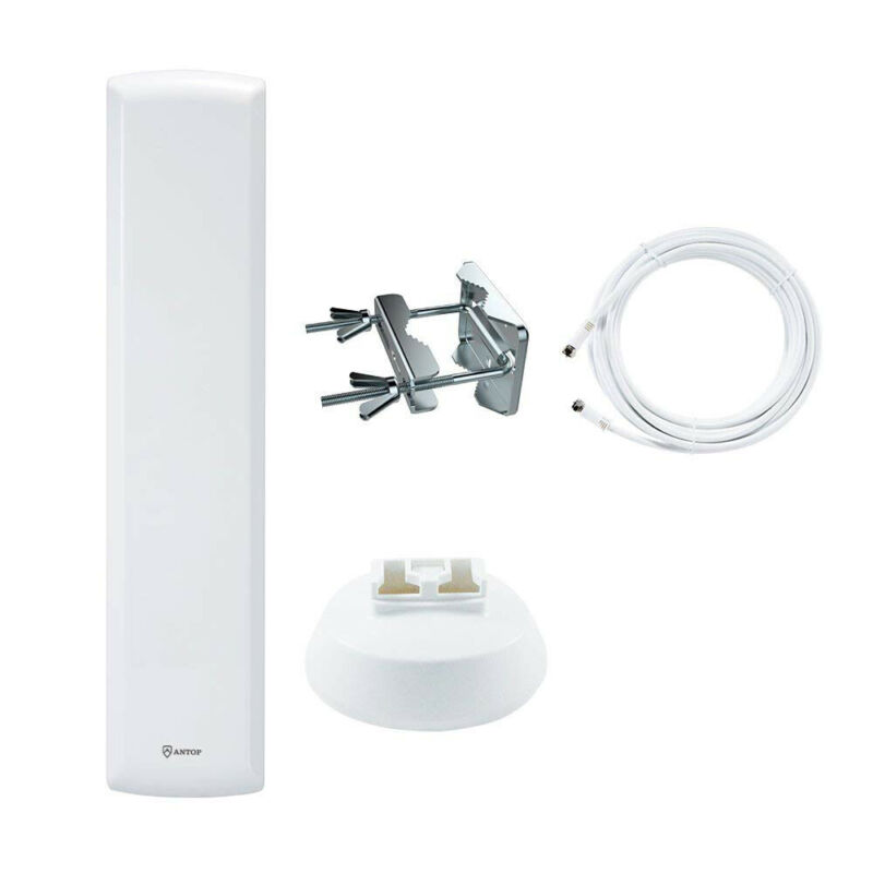 Antop AT-402B Flat-panel Outdoor/Indoor HDTV Antenna White - NEW