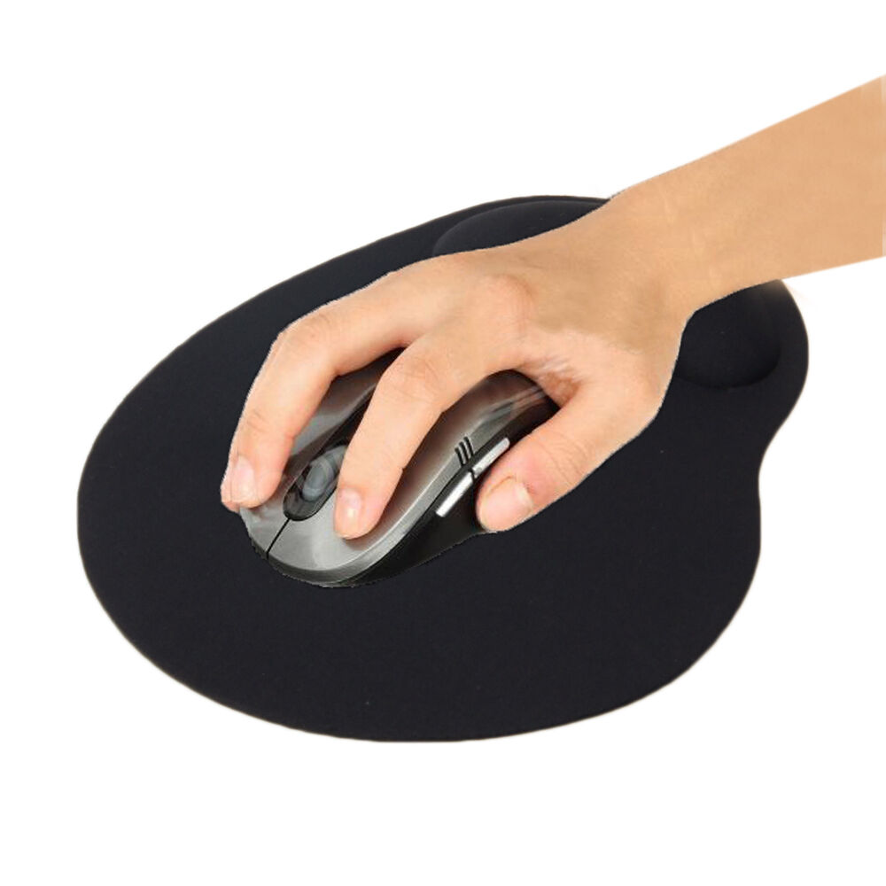 New Black Comfort Wrist Support Mat Mouse Mice Pad