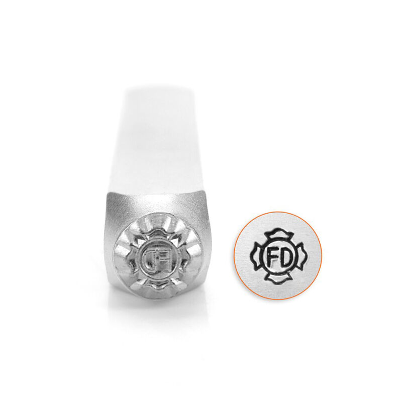 ImpressArt Fire Department Patch Badge Metal Stamp 6mm Fireman DIY Jewelry Punch