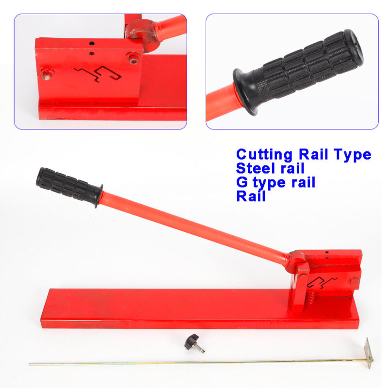 Manual Din Rail Cutter Double Groove Steel/G type rail Cutting Tool with scale