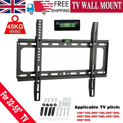 TV WALL BRACKET MOUNT STAND LCD LED Plasma 32 37 40 42 46 50 52 55 inch LG SONY