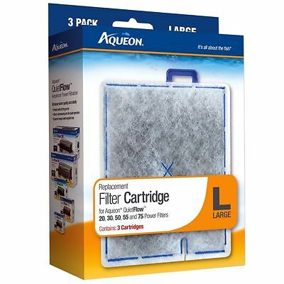 Aqueon Replacement Filter Cartridges, Large, Pack of 3