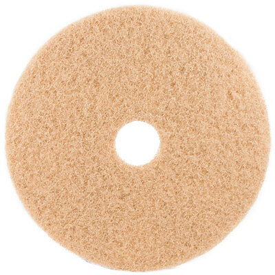 Tan Floor Pads - 17 Floor Buffer Polisher - Buffing Pads - 1 Thick - 5 Pack