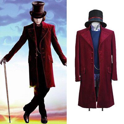 Charlie and the Chocolate Factory Willy Wonka Johnny Depp Cosplay Costume Suit](Johnny Depp Willy Wonka Costume)