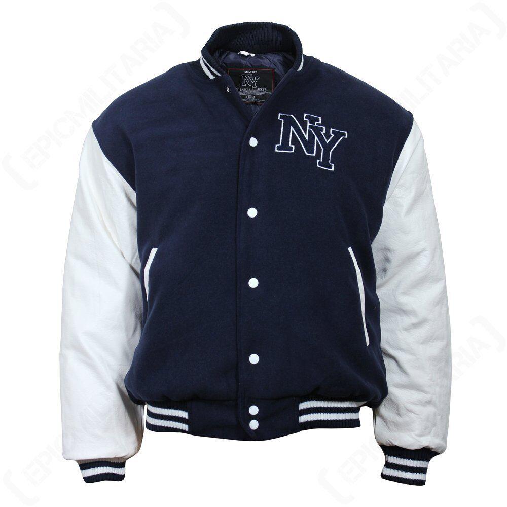 Mil-Tec NY Baseball Jacke mit Patch verschiedene Farben und Größen