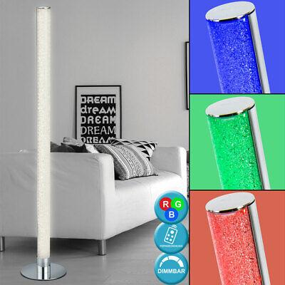 RGB LED Lámpara de Pie Salón Ess Habitación Mesa Auxiliar Cromo Techo...