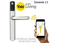 NEW! Yale Conexis L1 Smart Door Lock. Bluetooth Keyless Tag CHROME. BARGAIN !!!
