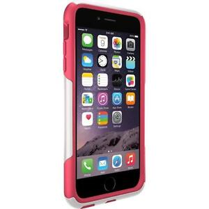 Otterbox iPhone 6/6s Plus Case, Commuter Series Retail Packaging-Neon Rose (Whisper White/Blaze Pink, 5.5 Inch)
